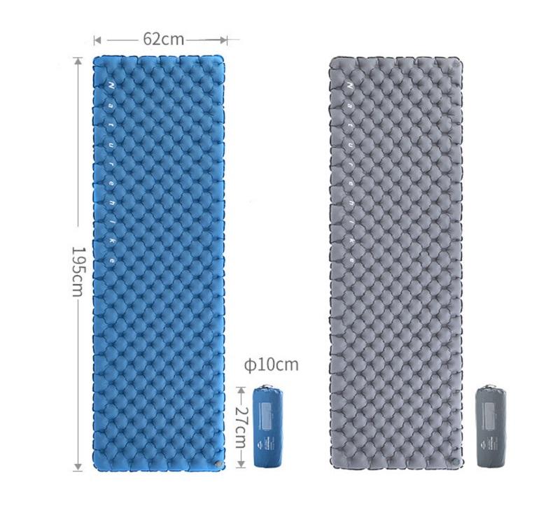 Có 2 màu xanh, xám. kích thước khi sử dụng là 195cm * 62cm