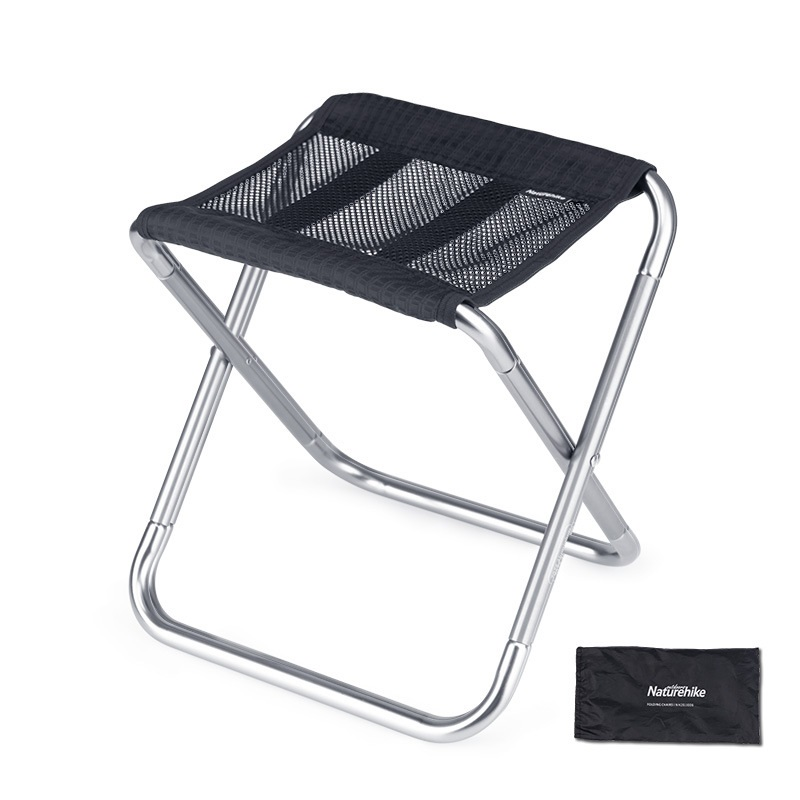 Ghế xếp mini du lịch Naturehike NH20JJ006 màu đen kèm túi đựng cùng màu