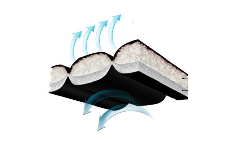 Vỏ bọc gối hơi được làm từ vải Nylon có ruột bông trắng sợi rỗng dày dặn
