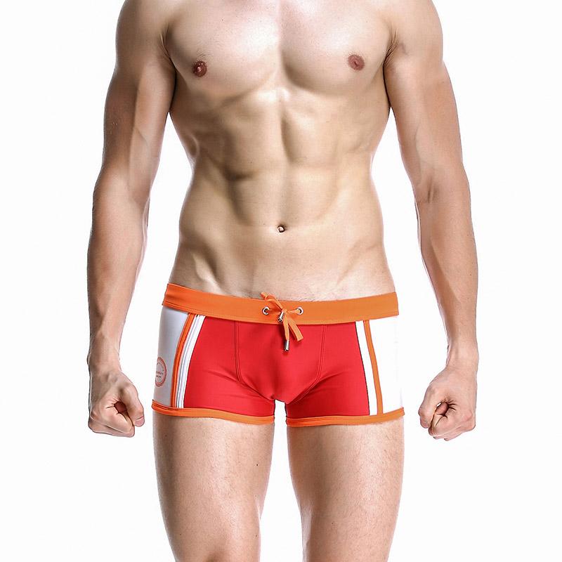 quần bơi cho nam Seobean SB10006 màu đỏ