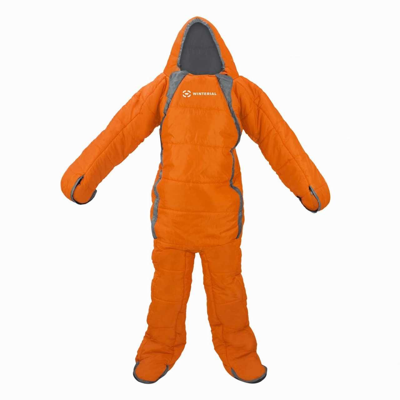 chiếc sleeping bag có tay màu da cam thích hợp cho chị em ở văn phòng