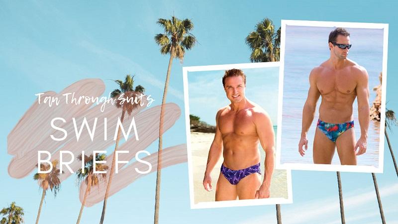 Hai người đàn ông nam mặc quần Swim Briefs