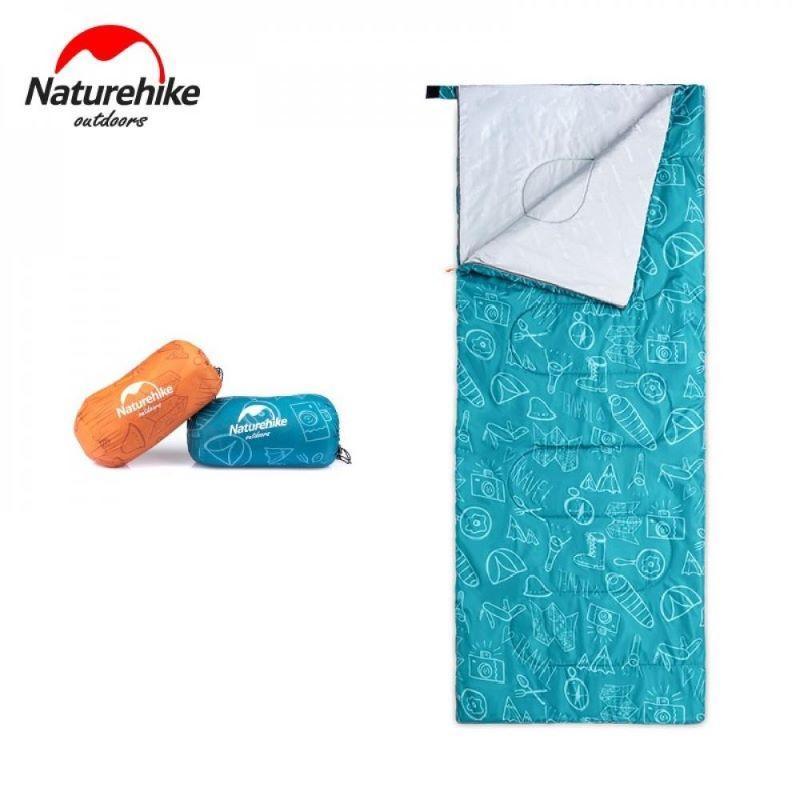 Túi ngủ đi cắm trại Naturehike S150 NH19S150 màu xanh họa tiết