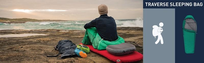 Sử dụng túi ngủ mùa đông Sea to Summit Venture Vtll STMVTL103 đi du lịch, cắm trại