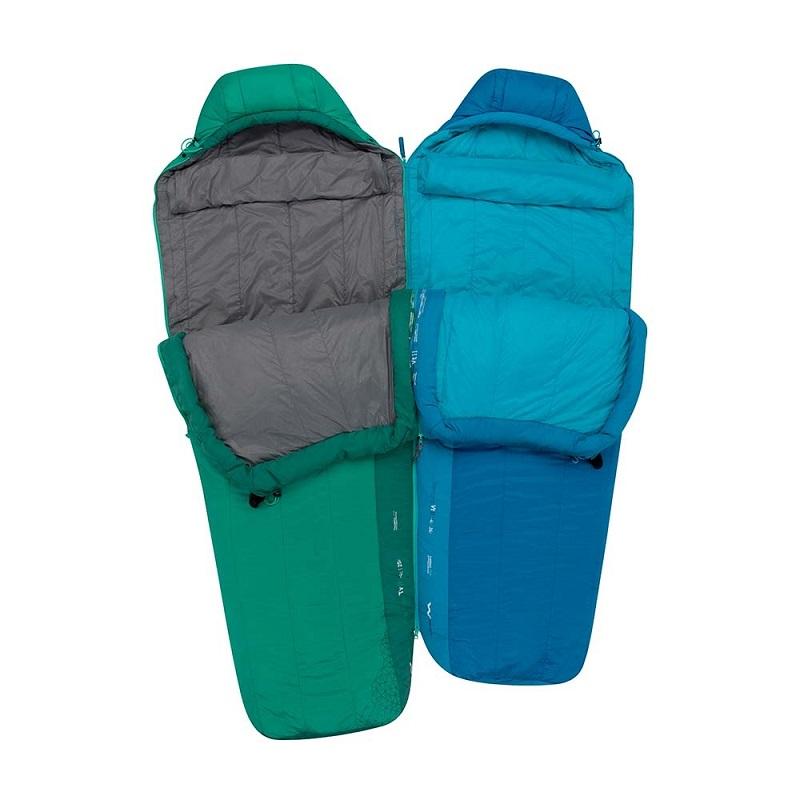 Khả năng gắn hai tối ngủ lại với nhau nhờ vào thiết kế zip của túi ngủ Sea to Summit Venture Vtll STMVTL103