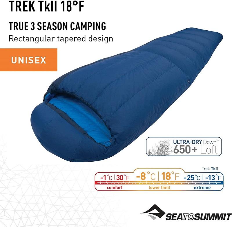 Túi ngủ Sea to Summit Trek TkII STMTK21 với khả năng giữ nhiệt tốt