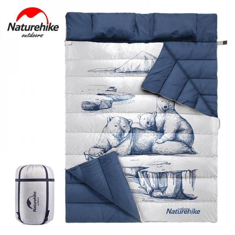 Túi ngủ đôi Naturehike NH19S06 họa tiết gấu