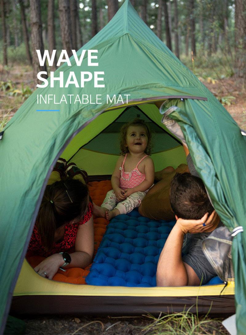 Trải đệm trong lều trại mang đến không giãn thư giãn thoải mái cho gia đình