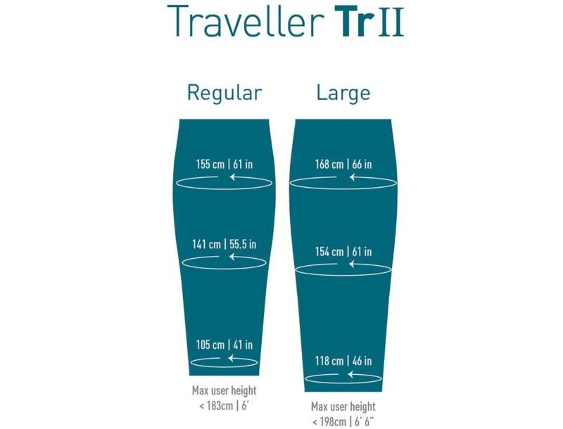 Hai kích thước size M và L của túi ngủ mùa đông Sea to Summit Traveller TrII STMTR207