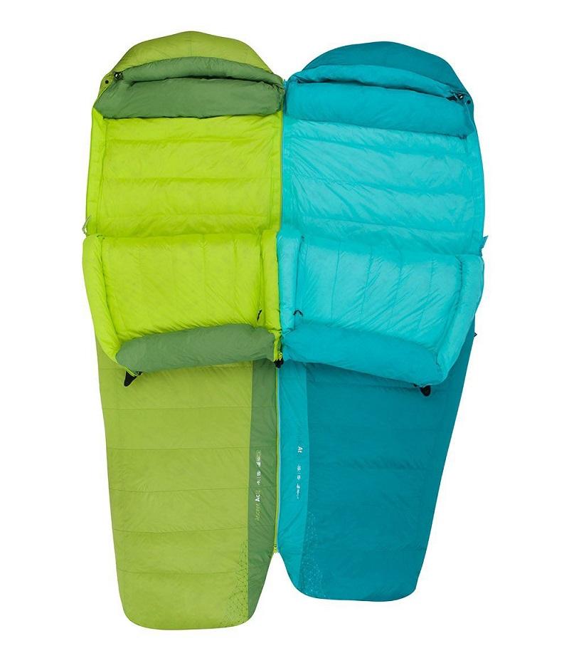 Khả năng nối hai túi ngủ lại với nhau nhờ khóa zip