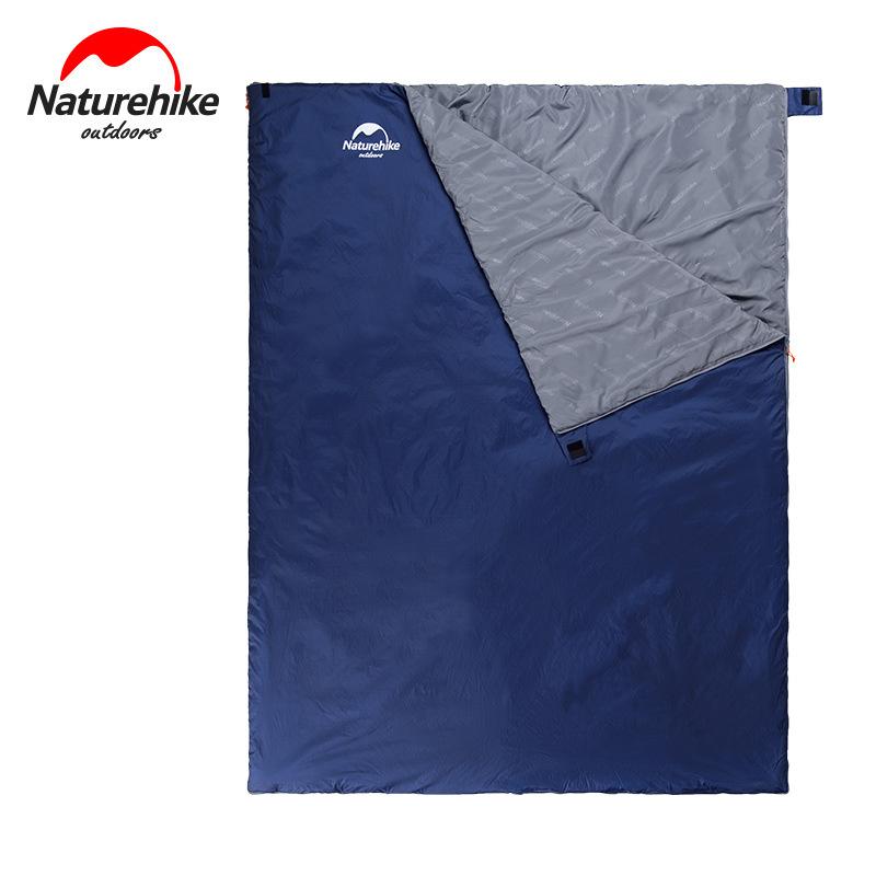 Túi ngủ đôi LW180 màu xanh than, kích thước rộng