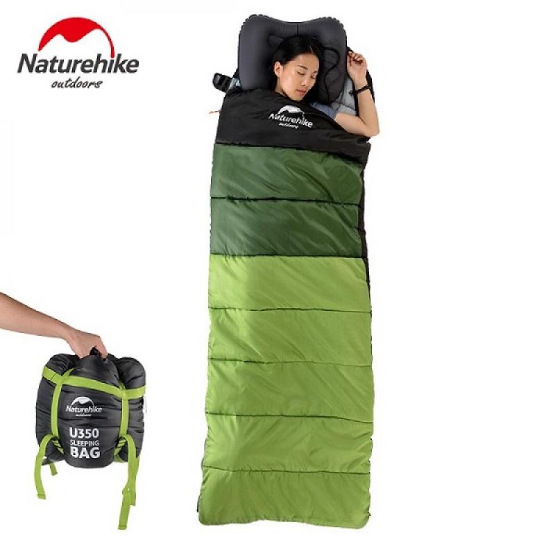 Túi ngủ Naturehike U250 mang 3 màu: xanh lá, xânh rêu và đen