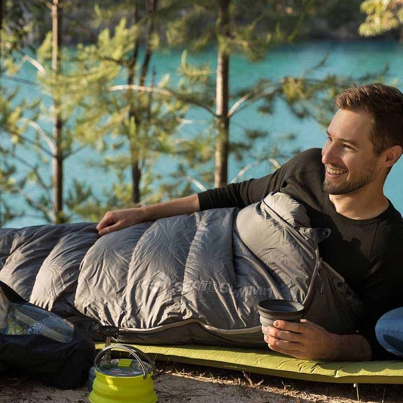 Sử dụng túi ngủ nhỏ gọn Sea to Summit Treeline TlI STMTL105 khi đi du lịch