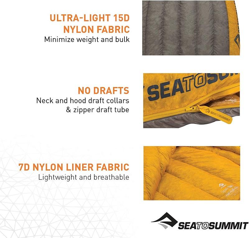 Thiết kế hiện đại của túi ngủ mùa đông Sea to Summit Spark SpII STMSP204
