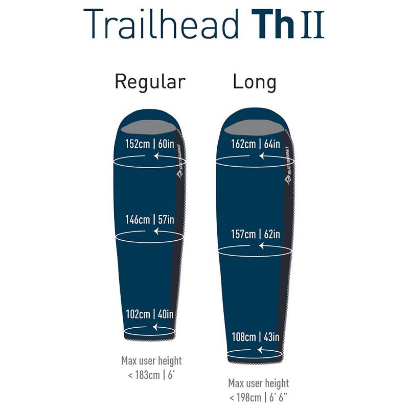 Kích thước size khác nhau của túi ngủ Sea to SummitTrailhead ThII STMTH209