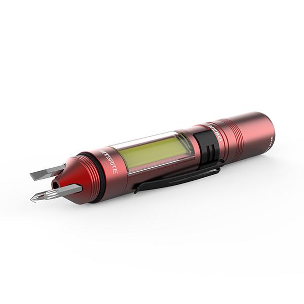 thiết kế chiếc đèn pin siêu sáng này rất tiện dụng