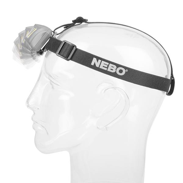 thiết kế tiện dụng đội đầu dễ dàng của chiếc đèn pin đa năng Nebo