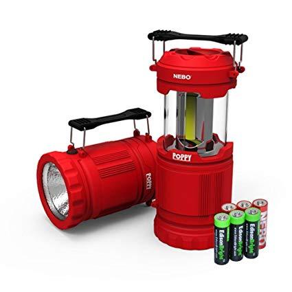 đèn pin chiếu sáng màu đỏ của Nebo