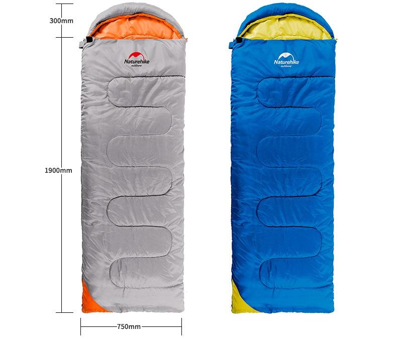 Kích thước của túi ngủ dã ngoại Naturehike U250