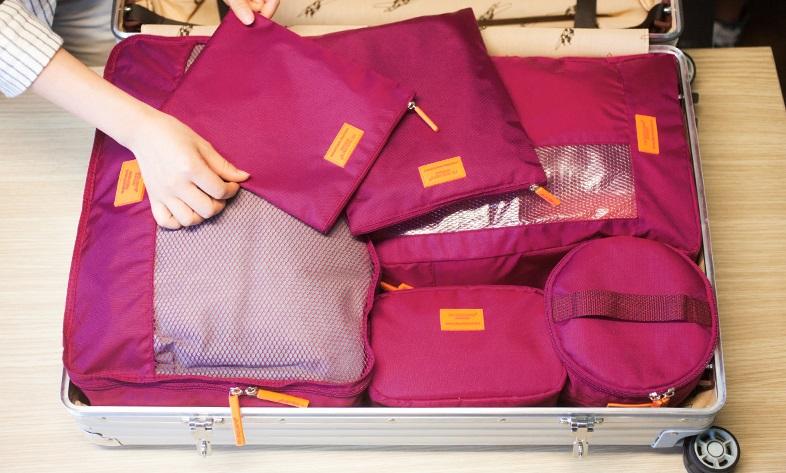 chất liệu set 5 túi du lịch msquare này rất chắc chắn bền đẹp