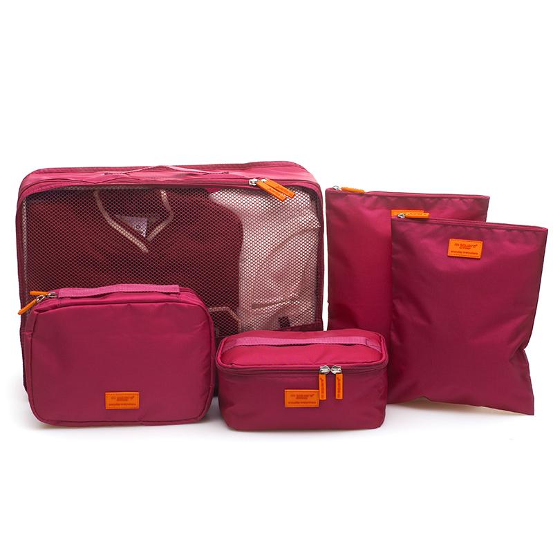 set 5 túi du lịch msquare hồng