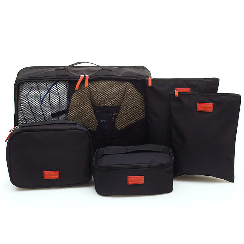 set 5 túi du lịch msquare đen