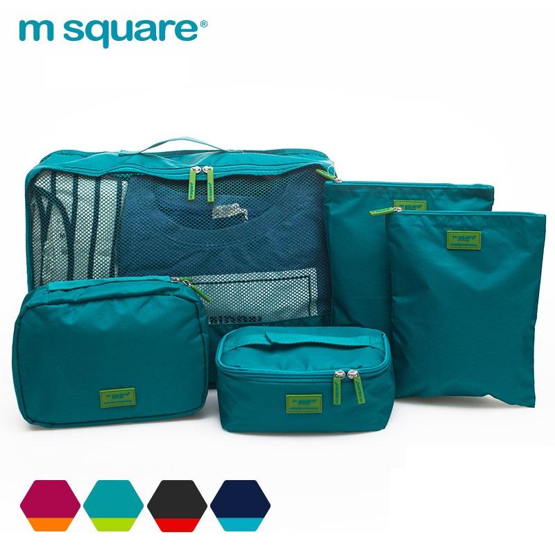 set 5 túi du lịch Msquare xanh lá