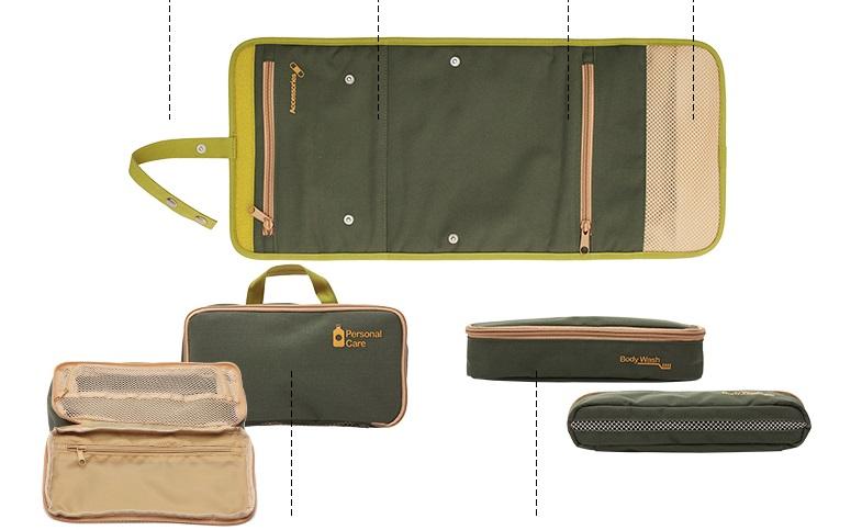Kích thước của túi đựng đồ trang điểm du lịch