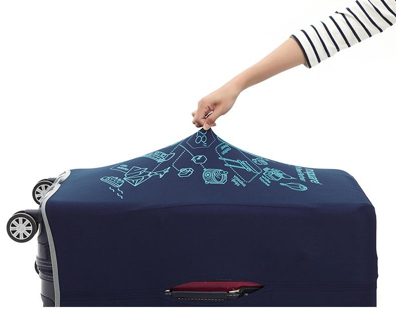 Chất liệu của túi bọc vali vải Msquare dày dặn