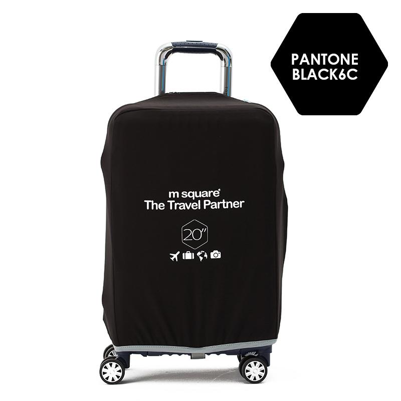 Vỏ bọc vali hành lý Msquare màu đen thích hợp sử dụng cho cả nam và nữ.