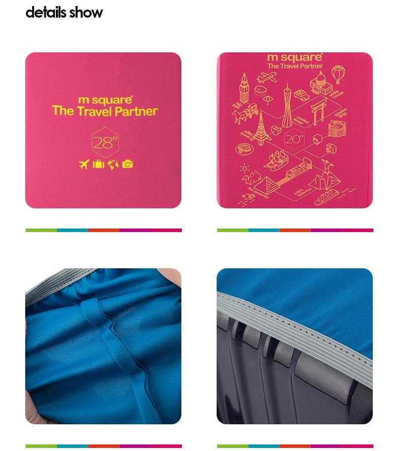 Chất liệu của túi bọc vali co giãn