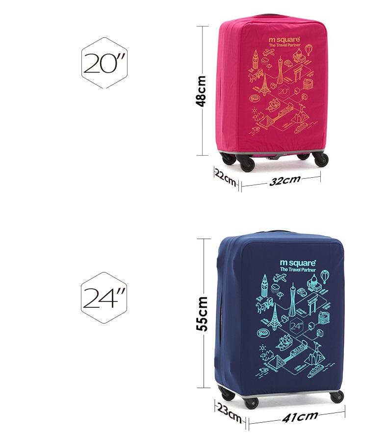 Túi bọc vali size 24