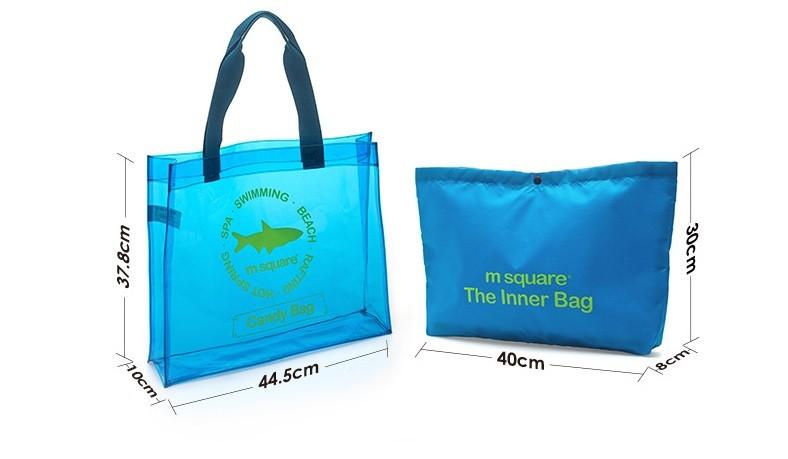Kích thước của túi xách đi biển chống nước