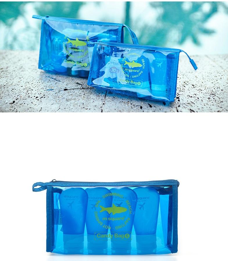 Dùng túi du lịch nhỏ gọn này để đựng bộ chiết mỹ phẩm sẽ rất phù hợp
