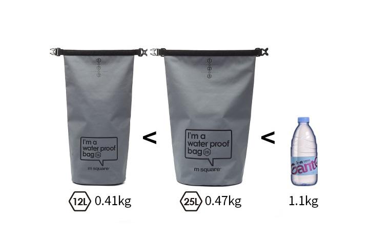 Kích thước và trọng lượng của túi khô đi biển