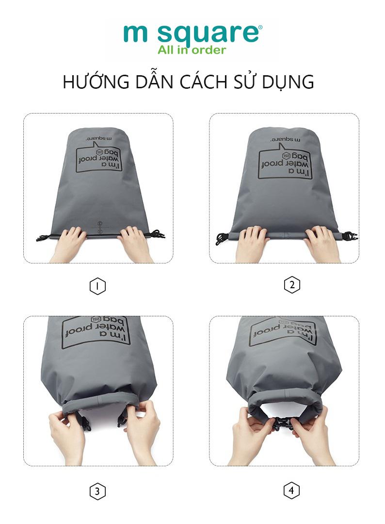Cách sử dụng túi khô chống nước