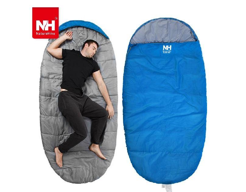 Túi ngủ phượt màu xanh blue