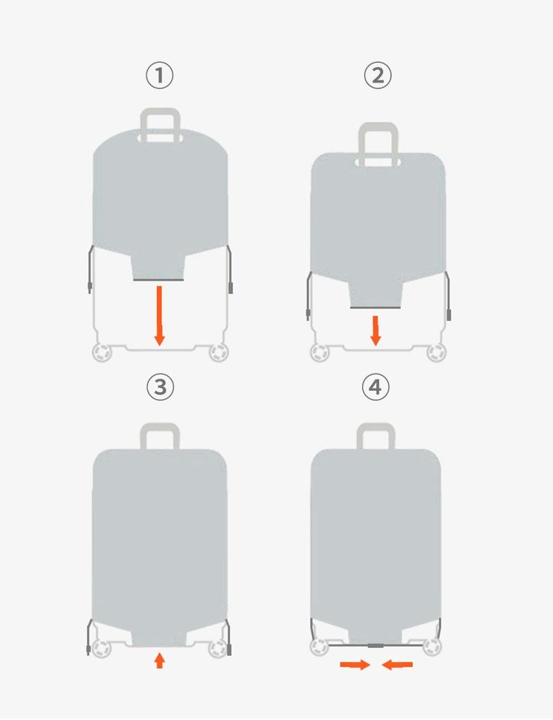 Cách sử dụng túi bọc vali