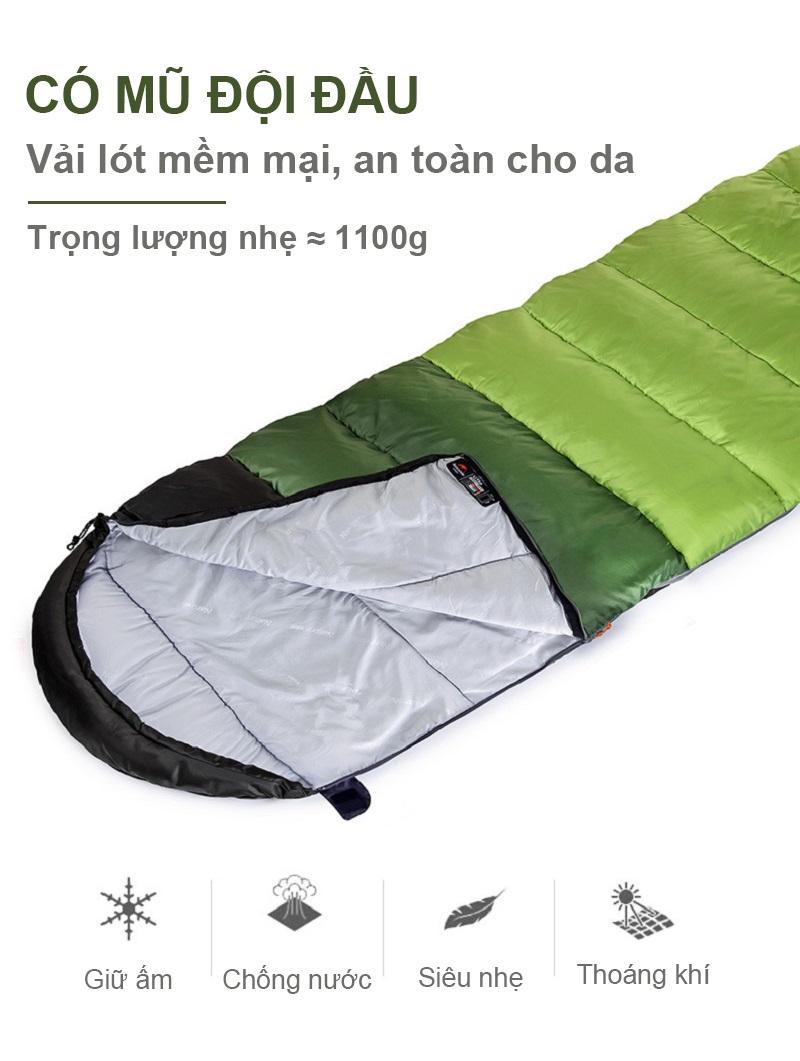 các tính năng tốt của túi ngủ U250